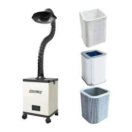 Versatile Mobile Fume Extractor System for Salon, Solder, Laser Smokes
