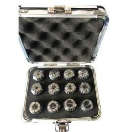 "ER20-12PCS(3/32-1/2"") Precision Spring Collet  Aluminum alloy box"