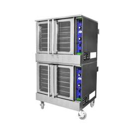 Double Deck 240V Commercial Electric Convection Oven - 20 KW