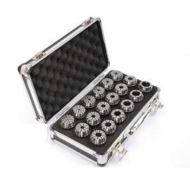"ER32-18PCS(1/8""-3/4"" ) Precision Spring Collet  Aluminum alloy box"