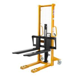 """Manual Stacker 2200lbs 63"""" Lift Height Adjustable Fork"""