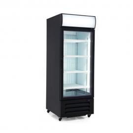 """27"""" Black Reach In Glass Door Merchandiser Freezer 22 cu.ft"""