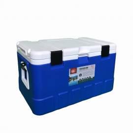 79Qt Blue Ice Chest Cooler White Inner Box White Lid
