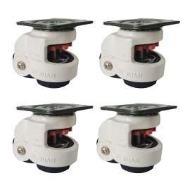 "4pcs 80F Retractable Leveling Machine Caster 2-2/5"" Plate1100lbs Nylon"