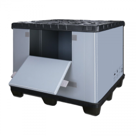 """2600 lbs 40x48x40"""" Plastic Collapsible Pallet Pack Container One door"""