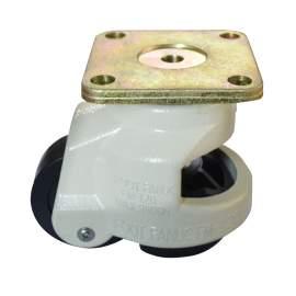 "2-4/5"" Plate Retractable Leveling Caster 2200lb Capacity Nylon"
