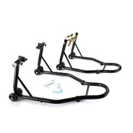 Black Motorcycle Front and Rear Stand 441lbs Capacity