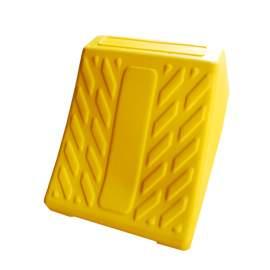 "Automotive Plastic Wheel Chock 14.8"" L x 11.2"" W  x 9.2"" H Yellow"