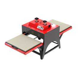 """Pneumatic Large Format  Heat Press Machine With 39"""" x 47"""" Double Worktable"""