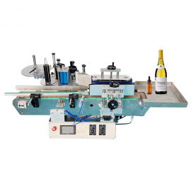 Tabletop Automatic Small  Round Bottle Labeling Machine With Collector