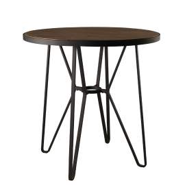 "42"" Round Counter Height Dining Room Table with Metal Base"