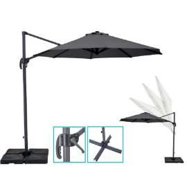 10ft Cantilever hanging Umbrella Outdoor Patio Umbrella Offset Grey