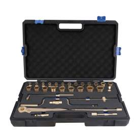 "Non-Sparking Socket Wrench Set 32-PC 1/2"" Beryllium Copper"