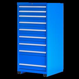 "Industrial Modular Drawer Cabinet 9 Drawers 28 1/4"" × 28 1/2"" × 60"""