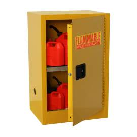 FM Approve, 12 Gallon Flammable Storage Cabinet, Manual Close