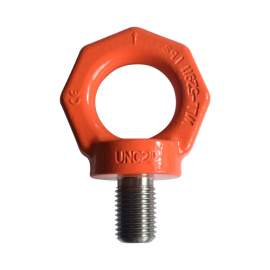 """PC-UNC2"""" Forged Grade 80 Alloy Steel Lifting Eyebolt with shoulder"""