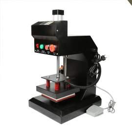 "Pneumatic Label Tag Heat Press Machine Automatic 5"" x 5"" Logo Printing"