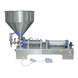 1.7-17 OZ Paste/Liquid Filling Machine Semi-Auto One-Head Filler