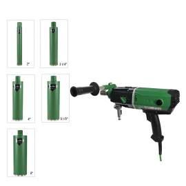Concrete Coring Drill Motor 2.2KW & 5x Wet  Core Bits & Setting Tools
