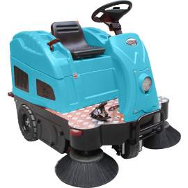 """55"""" Ride-On Floor Sweeper  Cleaning Path 40GAL Dustbin"""