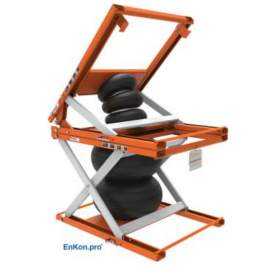 EnKon Modular 1000lb Capacity A-Series Air Scissor 45˚ Tilt Table (Tilt+Lift Only)