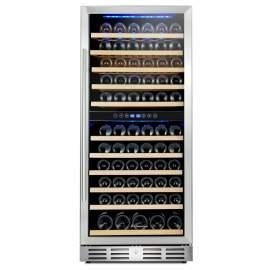"Kalamera 24"" 117 Bottle Built-in Dual Zone Wine Cooler"