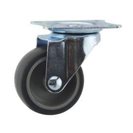 "2"" Swivel Plate Caster 60lb Capacity TPR"