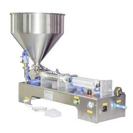 1-10 OZ Paste/Liquid Filling Machine Semi-Auto One-Head Filler