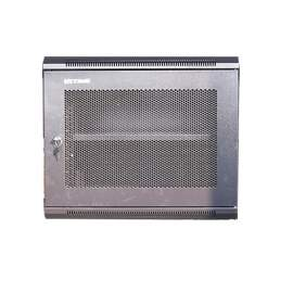 """Double Section 9U 21.7"""" Network Wall Mounted Cabinet Peforated Door"""