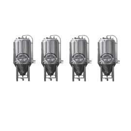 4-PCS Tanks 7BBL Pro Conical Fermenter 304 Stainless Steel