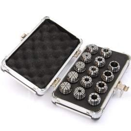 "ER25-14PCS(1/8""-5/8"") Precision Spring Collet  Aluminum alloy box"