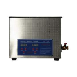 2-3/5Gal Ultrasonic Cleaner 240W 40Khz Stainless Steel Lab Washer 10L