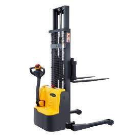 """98"""" High Fully Powered-Electric Straddle Stacker with 2200lbs Cap."""