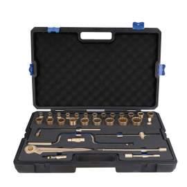 "Non-Sparking Socket Wrench Set 32-PC 1/2"" Aluminum Bronze"