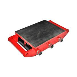 Machinery Mover Dolly Skate Cargo Trolley with 6 Rollers 8Ton, 17600Lb