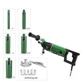 Concrete Core drilling machine 2200W & 5xwet core bits & setting tools