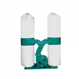Double Bags Dust Collector, 3 HP, for Woodworking Machine,110V 60HZ, 4'' Inlet,1883 cfm