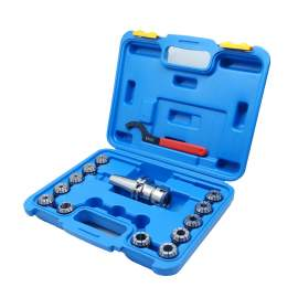 """CAT40 Shank ER32 Chuck with 12 pc Collet Set, 3/32"""" - 3/4"""""""