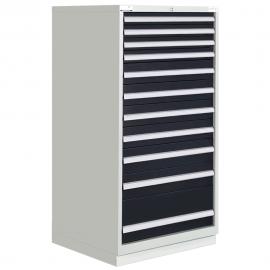 """Modular Drawer Cabinet 11 Drawers 28-1/4""""W × 28-1/2""""D × 60""""H"""