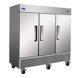 Valpro 72 cu. ft. Stainless Steel Triple Solid Door Refrigerator