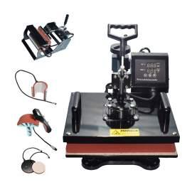 "6 in 1 Multi-function Heat Press Machine 15"" × 15"" T-Shirts Cap Mug p1"