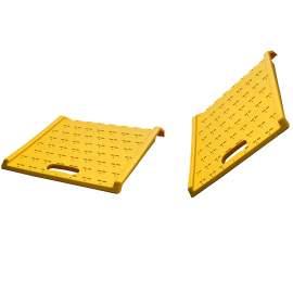 """2 pieces 27"""" L × 27"""" W Plastic Hand Trunk Curb Ramp 1050 LB.Cap"""