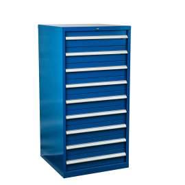 "Industrial Modular Drawer Cabinet 28 1/4"" x 28 1/2"" x 57"" 9 Drawers"