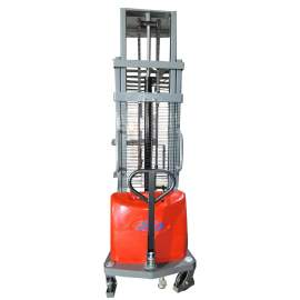 """Semi-Electric Stacker 63"""" Lift 4400Lbs with Adj. Forks"""