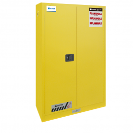 "FM Approved 45gal Flammable Cabinet 65x 43x 19"" Manual Door"