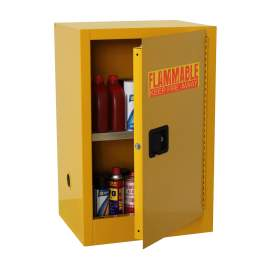 FM Approve, 16 Gallon Flammable Storage Cabinet, Manual Close