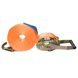 2'' x 27' 10000lbs Orange Ratchet Strap Double J Hook