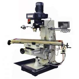 """Bolton Tools 10"""" x 48"""" Vertical Mill with Power Feed and DRO ZX1048PD-230V-1"""