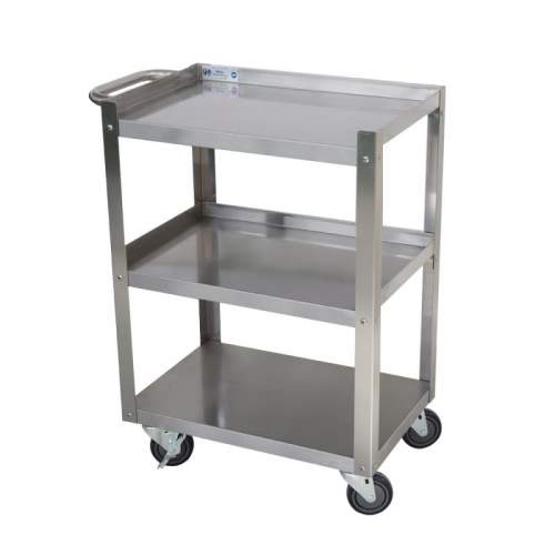 430 Stainless Steel 3 Shelf Utility Cart 24 X 16 X 33